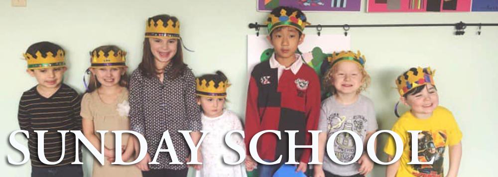 Sunday school banner